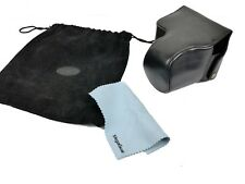 MegaGear Black Leather Ever Ready Camera Case Panasonic Lumix DMC-FZ200 25-600mm