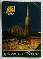 Vienna St. Stephen's Cathedral at night 1967 Postcard (P288)