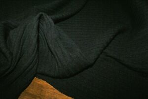 SPECIAL ORDER FOR smlow23 5M X 1.35M 'BLACK' CHUNKY RIB KNIT FABRIC, Mid Weight