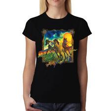 Horses Gallop Womens T-shirt S-3XL