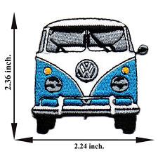 Blue Volkswagen Model Van Bus Vintage Classic Car V02 Applique Iron on Patch Sew