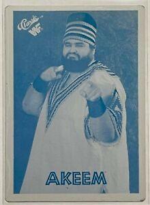 1/1 AKEEM 1990 CLASSIC WWF CARD 25 PRINTING PRESS PLATE WRESTLING VINTAGE 1 OF 1