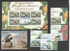 J0151 1986 GRENADA GRENADINES BIRDS AUDUBON #741-44 KB+BL+SET MNH