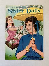 VINTAGE - Sister Dolls Paper Doll Book UNUSED - Lowe 1964