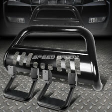 BLACK BULL BAR BUMPER GUARD+SIDE ASSIST STEP FOR 09-16 DODGE RAM 1500 TRUCK