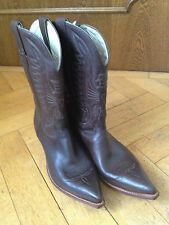 Don Quijote Cowboy Western Stiefel Boots Leder braun US 11.5 EUR 45 UK 10.5