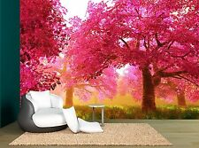 Forest Sherry Tree Japanese Garden Wall Mural Photo Wallpaper GIANT WALL DECOR