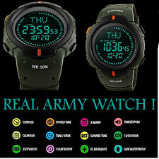 Men Sport Digital Military Watch Waterproof Quartz Army Wrist Tactical Compass