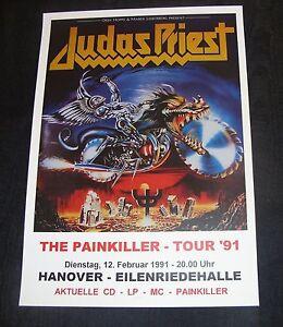 Judas Priest Concert Poster - Painkiller Tour 1991 Hanover A3 Size repro