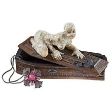 Sexy Mummy & Coffin Sculpture Casket Trinket Treasure Box Haunting Halloween
