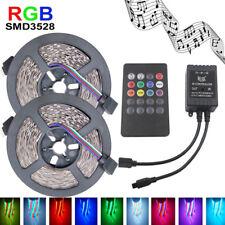10M 600LEDs Musik IR Fernbedienung RGB 3528 LED Streifen Stripe Lichtleiste EU