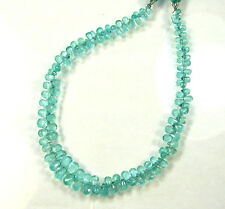 "APATITE faceted drop briolettes beads AAA 4.5-7mm 10"" strand"
