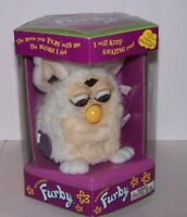 ORIGINAL FURBY 1999 BY TIGER  #70-800 WHITE & TAN BROWN EYES BRAND NEW IN BOX