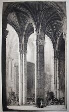 Arthur James Turrell (1871-1910) Cathedral interior 1922. Signed. c. late19th c