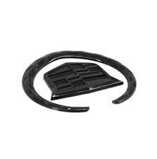 "4"" Black Cadillac Wreath Crest Rear Tailgate Emblem Trunk 3D Badge Sticker Decal"