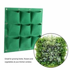 9 Pocket Vertical Greening Hanging Wall Garden Grow Plant Bags Planter Grow