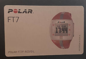 Polar USA FT7 Red/Silver Heart Rate Monitor