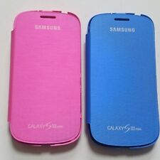 Samsung Flip Cover Case Bundle Pack For Samsung Galaxy S 3 Mini Blue Pink New