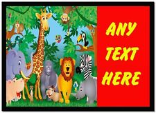 Jungle Animals Personalised Dinner Table Placemat