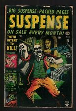 SUSPENSE horror 28 3.0 G+ WITHIN TO KILL Zombie Cover pre code 1953 golden age