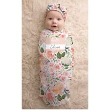 Itzy Ritzy Cocoon and Hat Swaddle Set Cutie Cocoon Includes Name Announcement