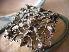 GEORGIAN DIAMOND BROOCH PIN OR TURBAN JEWEL in SILVER WITH MAKERS MARKS WI