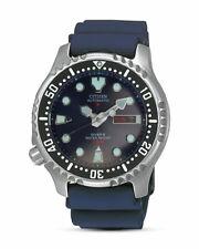 Citizen Promaster NY0040-17LE Automatik Taucheruhr mit Gummiband für Herren - Edelstahl/Blau