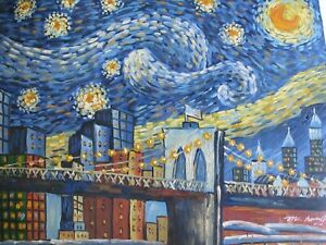 Vincent Van Gogh The Starry Night New York Funky Funny large oil painting canvas