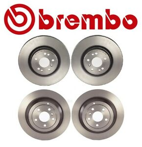 For Mercedes Benz W164 ML350 Set of Front & Rear Disc Brake Rotors Coated Brembo