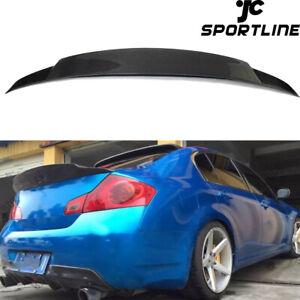 Fits Infiniti Sedan G25 11-12 G37 09-13 Rear Trunk Spoiler Wing Lip Carbon Fiber
