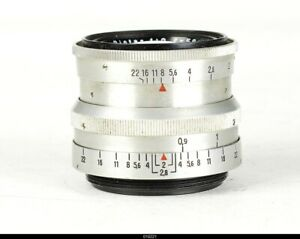 Lens Zeiss Chrom  Biotar 2/5,8cm 58mm Red T For Pentax M42