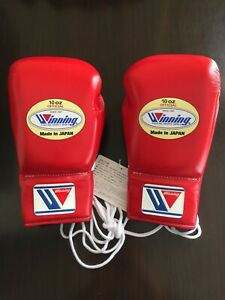 Winning Boxing MS-300 10oz Lace Up Pro Gloves NEW WITH TAGS
