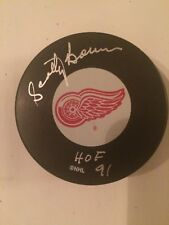 Scotty Bowman HOF 91 autographed Detroit Red Wings puck
