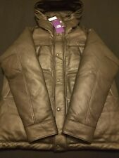 NWT NORTH FACE PURPLE LABEL MOUNTAIN DOWN LEATHER JACKET LARGE *NOT SUPREME*