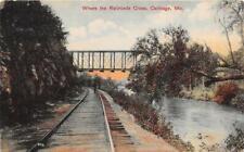 CARTHAGE MO 1907-09 View of Where The Railroads Cross VINTAGE MISSOURI GEM+  542