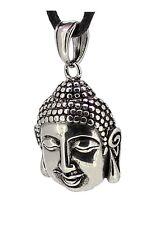 budawi® - Buddha Kopf Anhänger 19 x 15 cm, Buddhistische Amulette aus Edelstahl