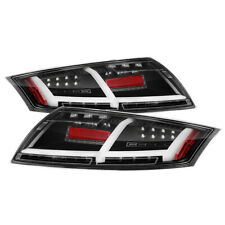 Fit Audi 08-14 TT Black LED Tail Brake Lights Sequntial Turn Signal Left & Right