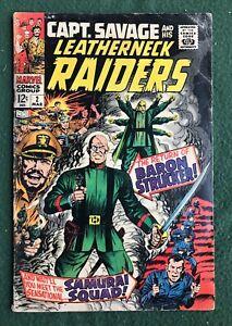 Capt Savage And His Leatherneck Raiders #2 Marvel Comics Silver Age war pr/fr