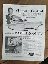 1953 Raytheon TV television Vu Matic control vintage ad