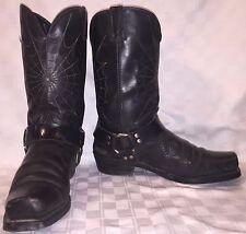 Vintage Mens Size 13 D DURANGO Spiderweb Motorcycle Biker Harness Black Boots