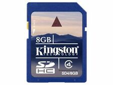 KINGSTON 8GB SDHC MEMORY CARD FOR DIGITAL CAMERA CAMCORDER SD CARD NEW
