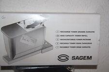 SAGEM - TNR 306 recharge Toner Grande Capacité - Avec Jauge Toner + carte à puce