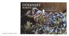 GUERNSEY 2014 MARINE LIFE (2ND) MINI SHEET FIRST DAY COVER