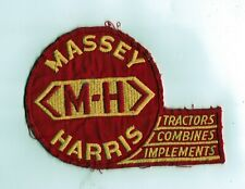 Scarce Massey Harris Tractors Dealers Cloth Back Patch No Reserve
