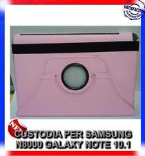 Pellicola+Custodia Rotante ROSA stand per Samsung Galaxy Note 10.1 N8000