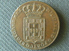 PORTUGAL 40 REIS Fourty 1829 D.MIGUEL I  BRONZE COIN