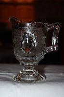ANTIQUE EAPG GLASS C.1891 BALTIMORE PEAR CLEAR FOOTED CREAMER