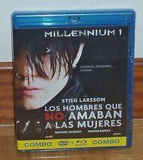 MILLENNIUM 1-LOS HOMBRES QUE NO AMABAN A LAS MUJERES-COMBO BLU-RAY+DVD-NUEVO