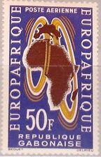 GABON GABUN 1963 191 C19 EUROPAFRIQUE Maps Karten Co-operation Contract MNH