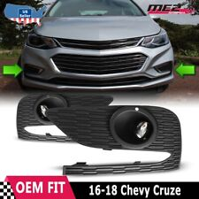 For Chevy Cruze 17-18 Factory Bumper OE Fit Fog Lights + Wiring Kit Clear Lens